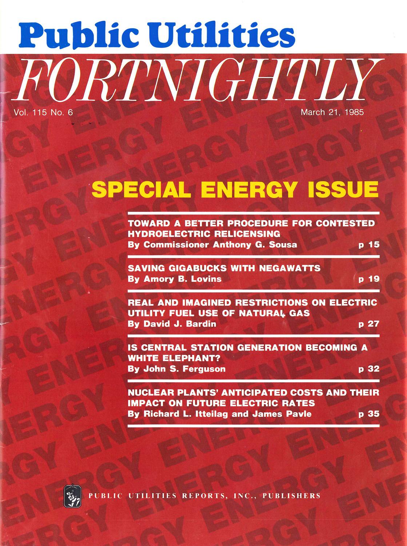 Saving Gigabucks with Negawatts (1985) | Fortnightly